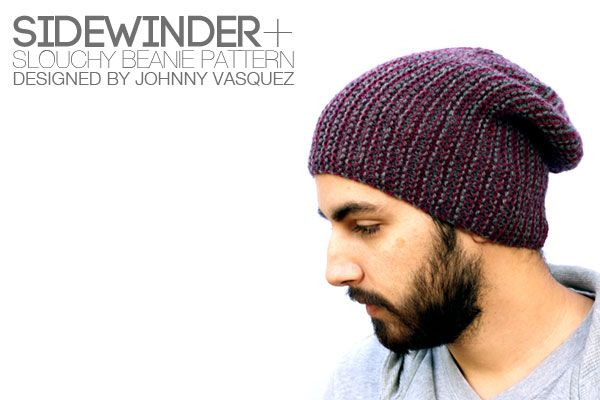 Sidewinder Slouchy Beanie Pattern Cover Crafts I Must Do