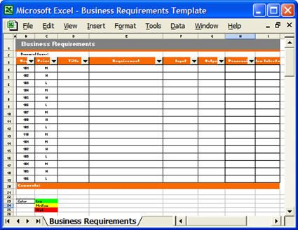 Business Requirements Specification Template Business Writing - requirement analysis template