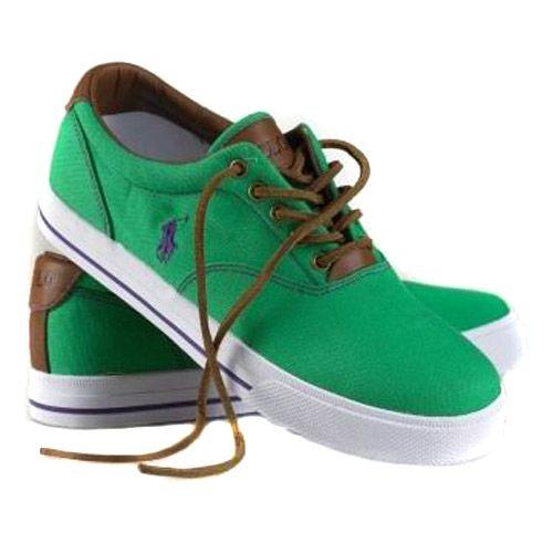 polo ralph mens classic canvas sneaker green