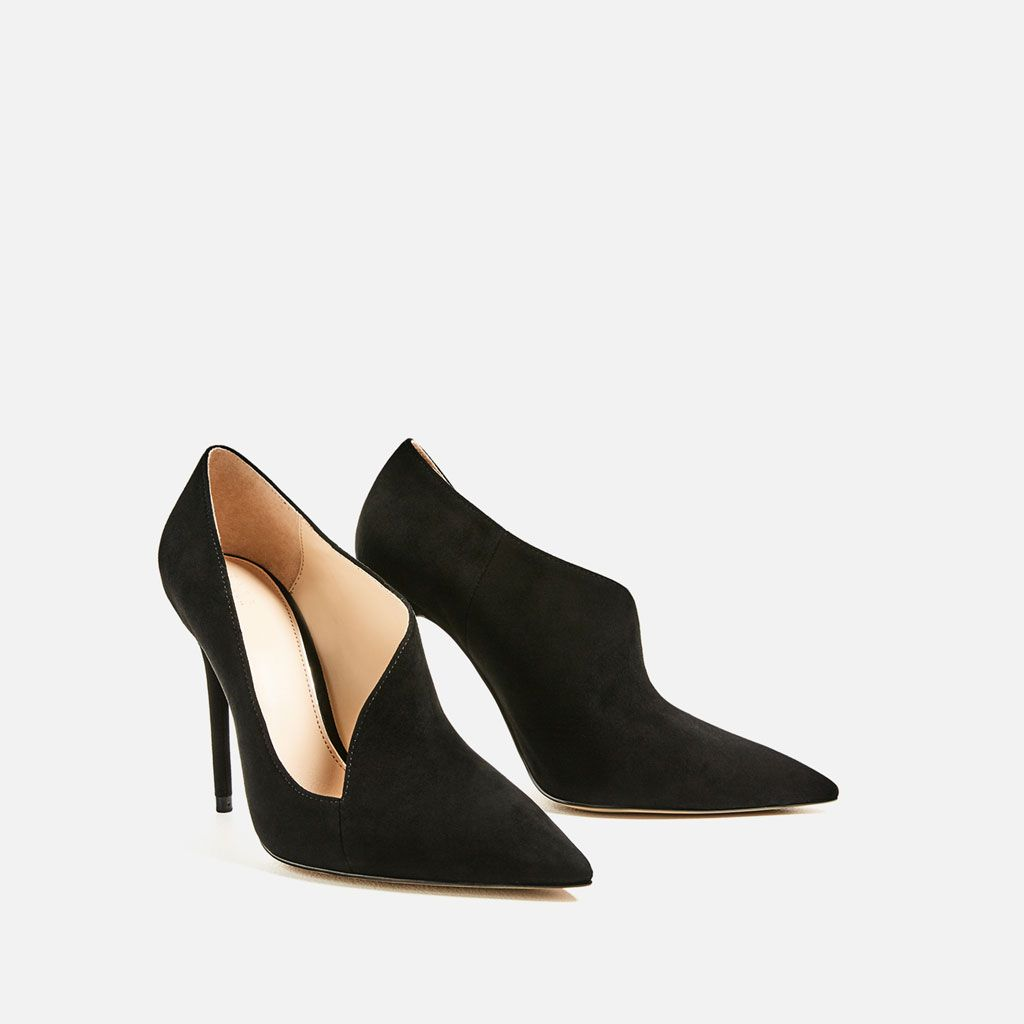 ASYMMETRIC LEATHER HIGH HEEL SHOES-View all-SHOES-WOMAN | ZARA United States