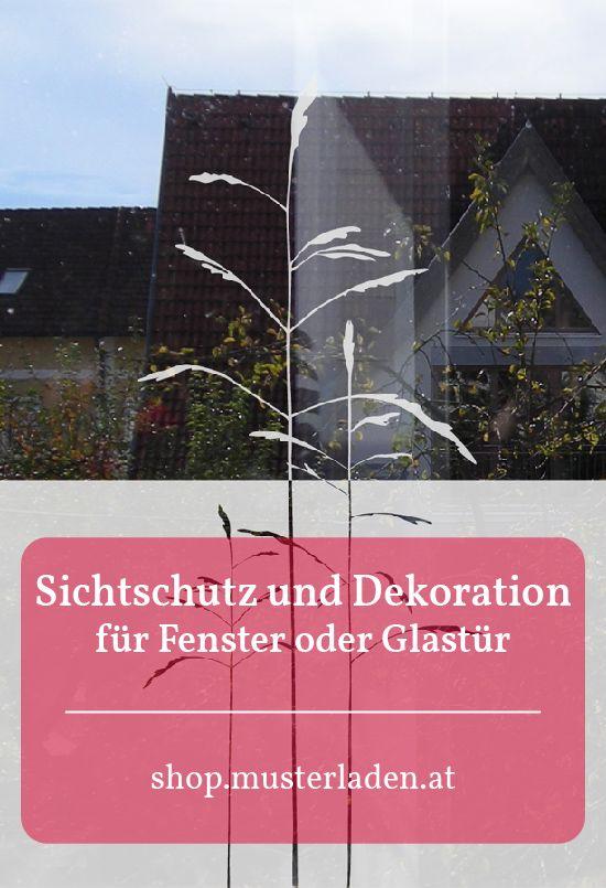 Fensteraufkleber Sichtschutz Gräser Christl Arch - sichtschutz f r badezimmerfenster