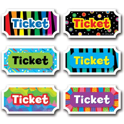 Printable tickets for classroom management incentives Classroom