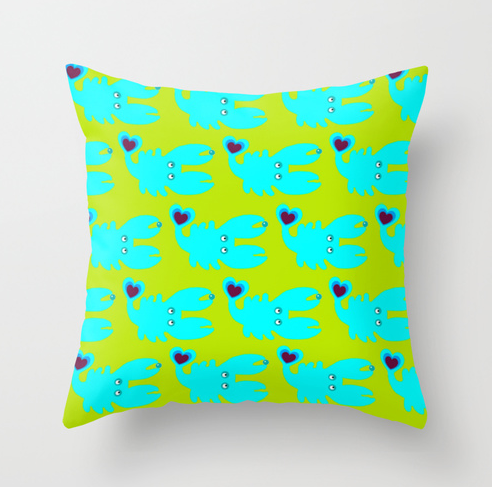 pillow CRAB by Wesna Wilson via  www.wesna-wilson.de