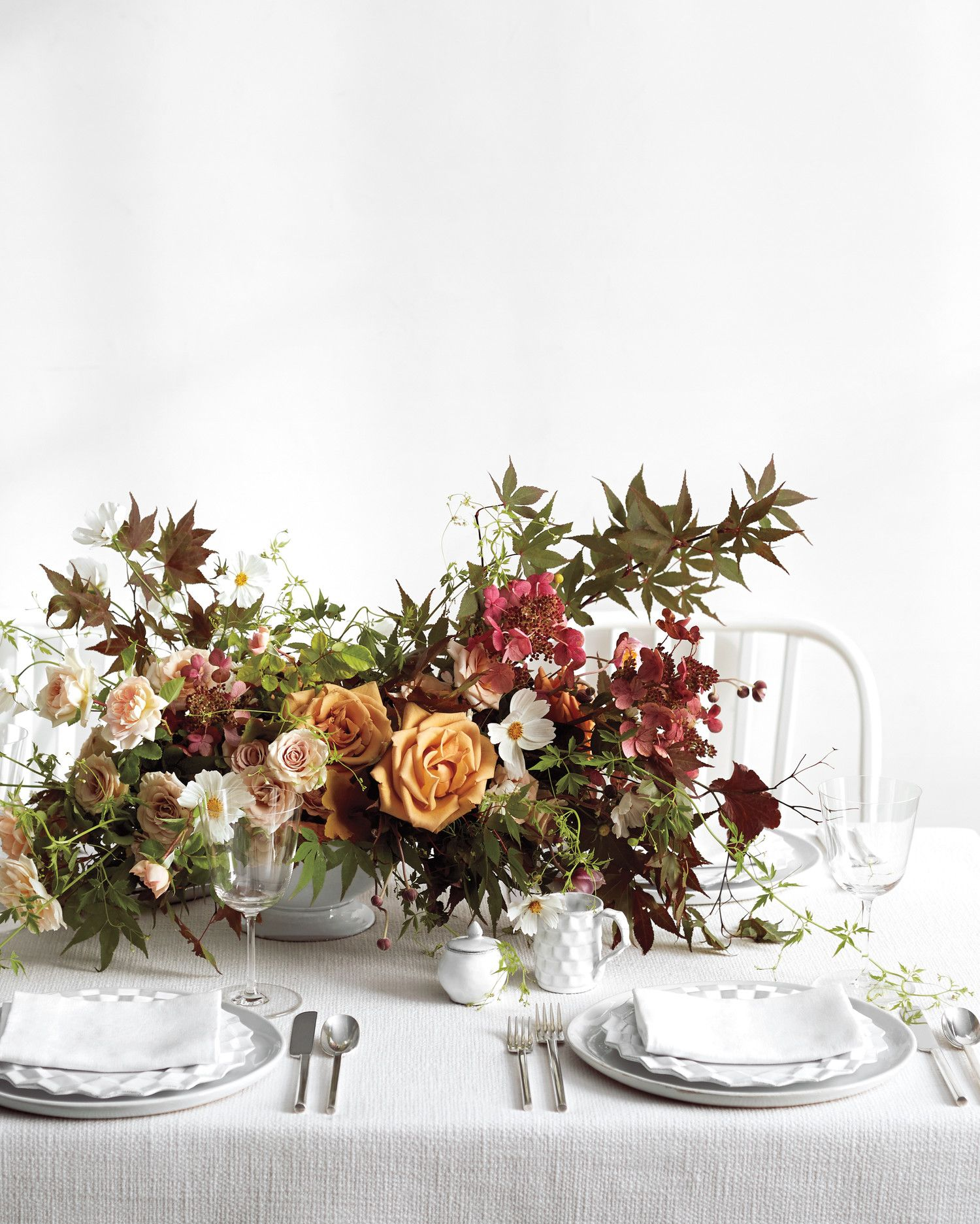 Fall Wedding Flower Ideas From Our Favorite Florists | Place setting ...