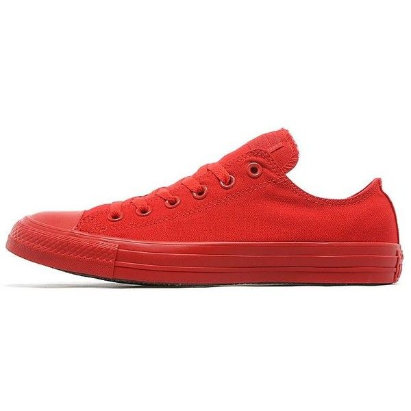 Converse All Star Low Monochrome ($63) ❤ liked on Polyvore featuring men's fashion, men's shoes, men's sneakers, red, mens shoes, mens leopard print shoes, converse mens sneakers, mens low top basketball shoes and converse mens shoes