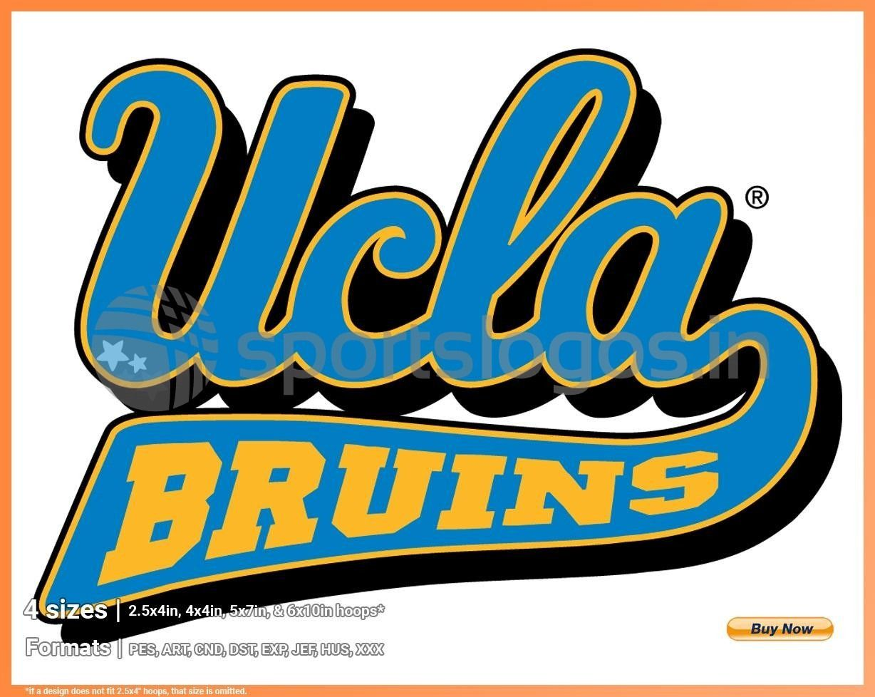 Ucla Bruins College Sports Embroidery Logo In 4 Sizes