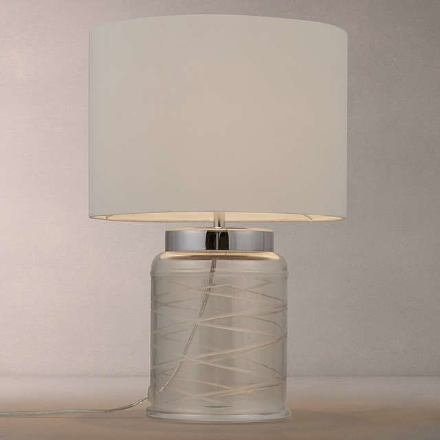 buyjohn lewis tilda swirl glass table lamp clear white online at