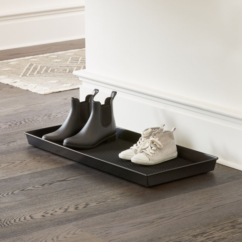Metal Boot Tray Reviews Crate And Barrel In 2020 Boot Tray