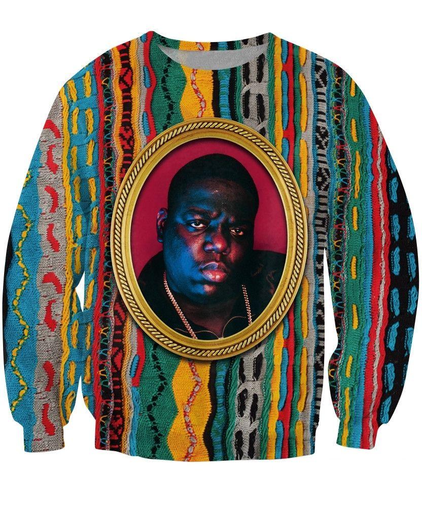 c9aa95d6ef995 Biggie Crewneck Sweatshirt Notorious B.I.G. jumper Biggie Smalls Character Sweats  Fashion Clothing Women Men Tops Pullover