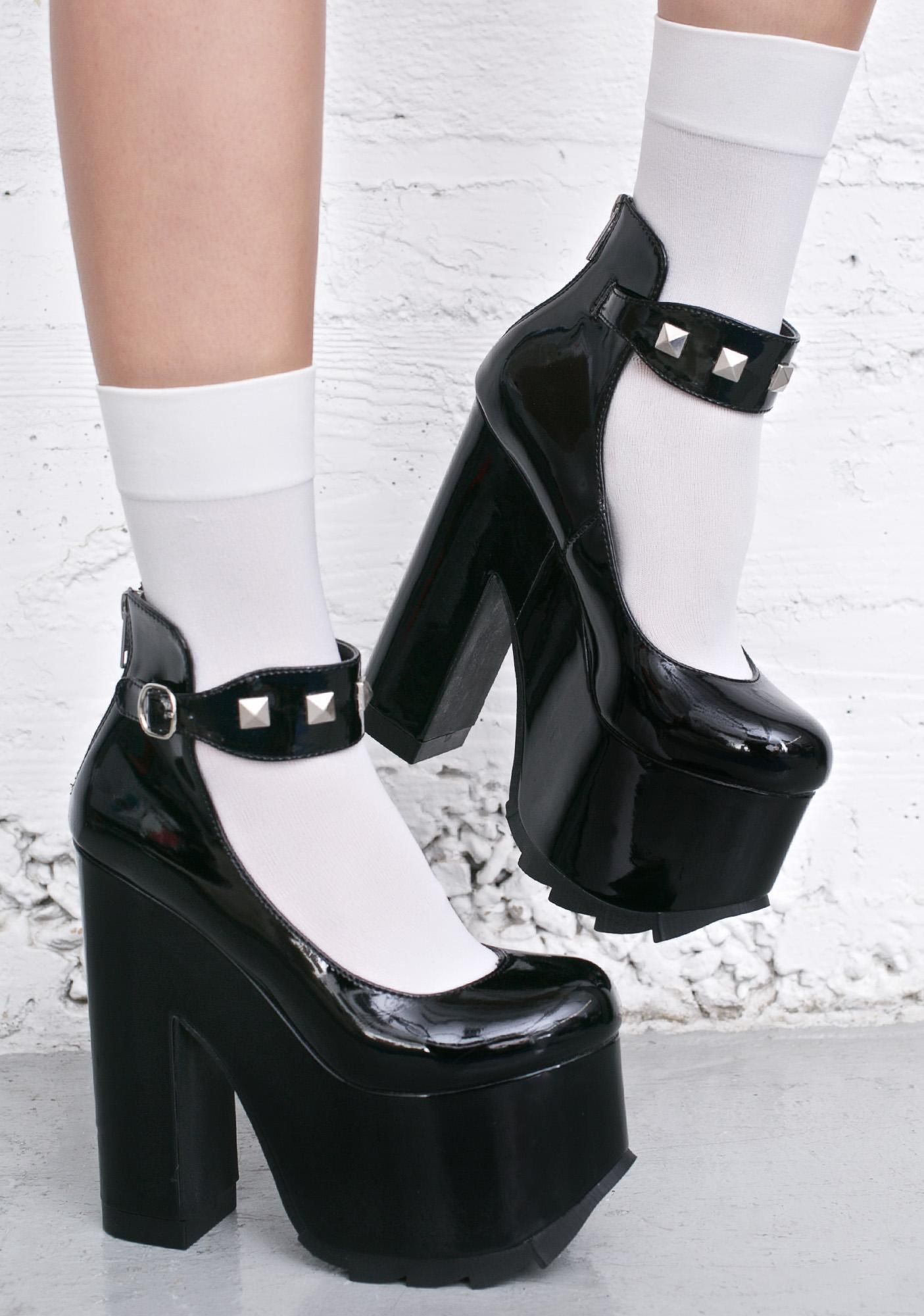 The platform fetish girls high heels