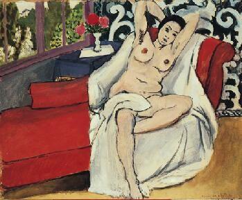 Nude on a Sofa~Matisse 1923 at Norton Simon