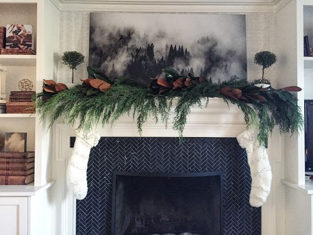 Holiday mantel decor to complement your crown moulding ...