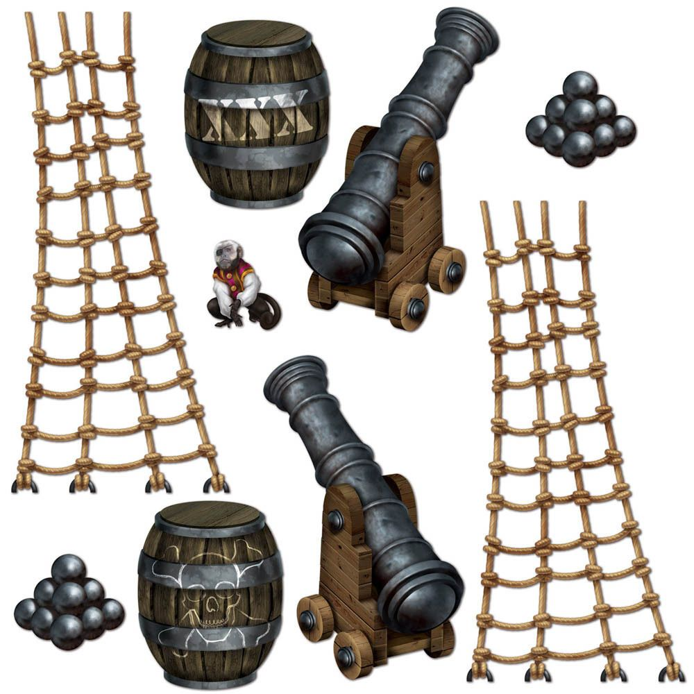 Details about Pirate Ship Party Scene Setter Add-on Props ...