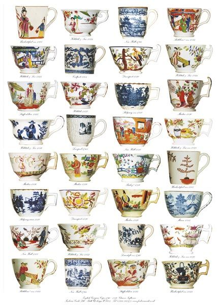 Frederica Cards Greetings Cards And Wrapping Paper With Classic British Design Tea Art Antique Tea Cups British Design