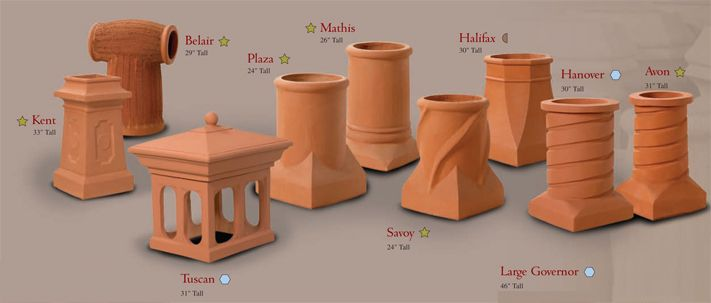 Chimney Flue Decorative Clay Clay Wall Fountains Ponds