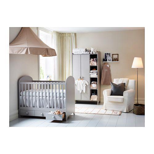 Babyzimmer komplett ikea  GONATT Babybett, hellgrau | der Bettboden, Montiert und Ikea