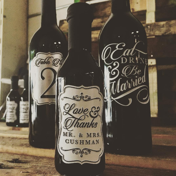 Wedding Wine Bottles: Wedding Wedding Wedding!! Deep Etched And Hand Painted