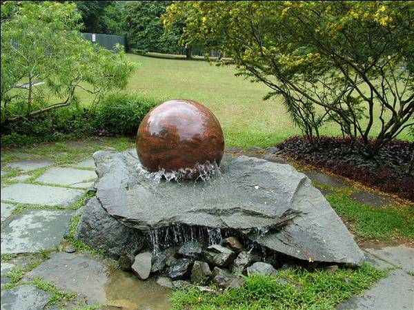 Amazing Nature Whispering Of Outdoor Garden Water Fountains : Garden Water Fountains  With Natural Stone