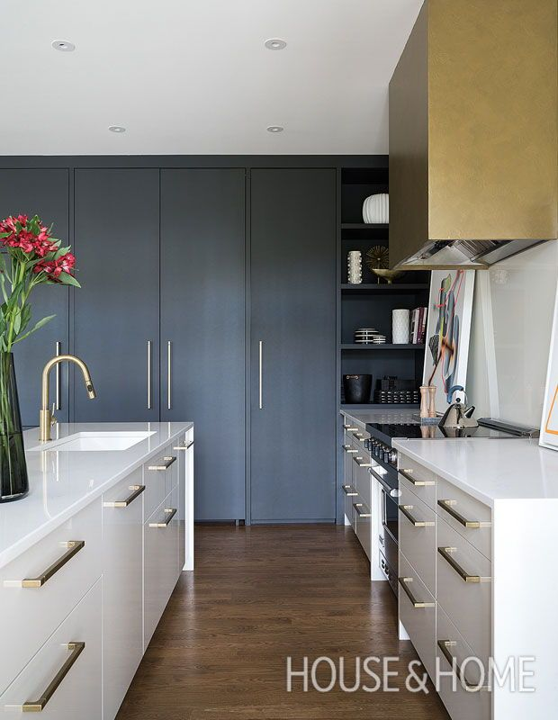 This gorgeous brownstone is filled with showstopping art cupboard pantry and kitchens