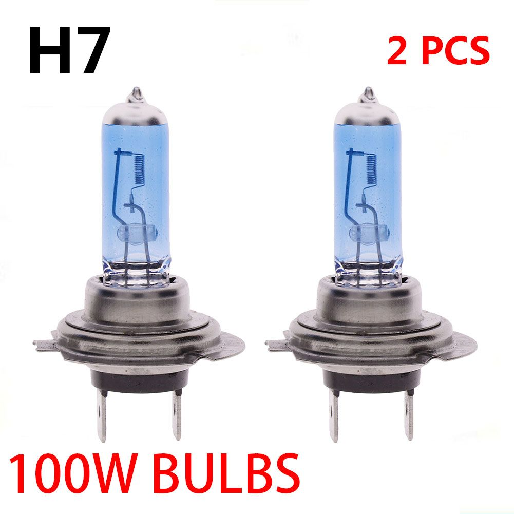 2pcs H7 100w Xenon Gas Halogen Headlight White Car Light Lamp Bulbs 12v 6000k Lamp Bulb Lamp Light Halogen Headlights