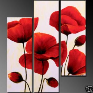 red flowers painting
