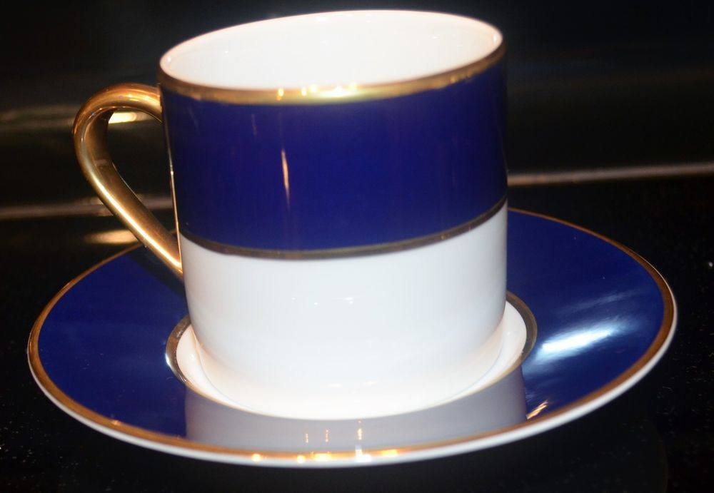 Cobalt Blue With Gold Trim Demitasse Cup Saucer Chinacraft Monno Collectible Demitasse Cups Cobalt Blue Gold Cup And Saucer
