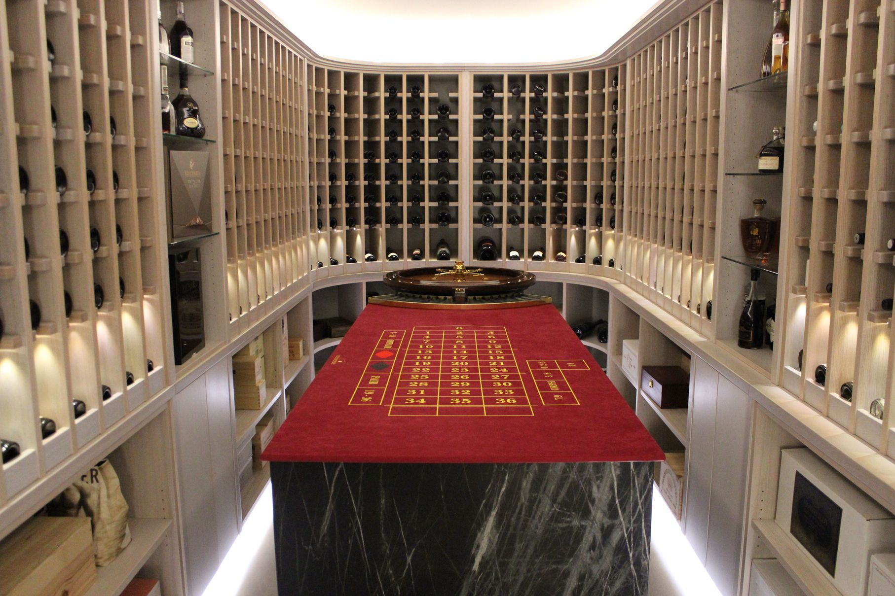 Luxurious Wine Cellar Planned And Build On Customer