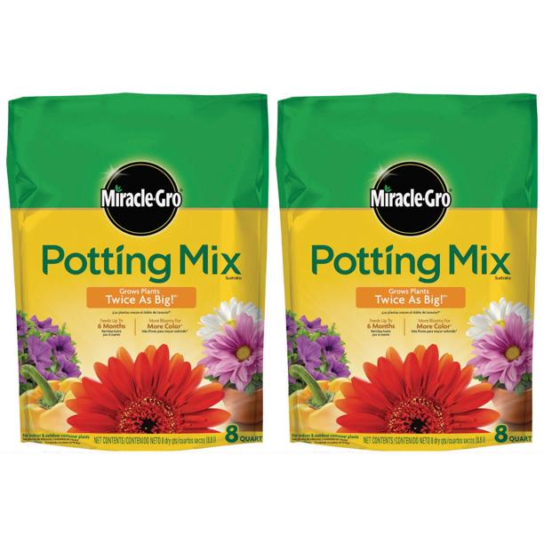 [8 Quart, 2 Pack] Miracle-Gro Potting Mix