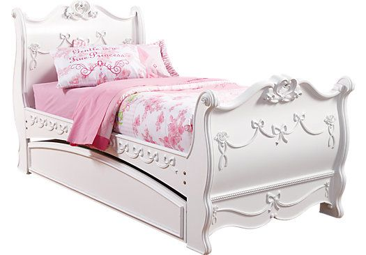 Disney Princess White 3 Pc Full Sleigh Bed Twin Sleigh Bed Bedroom Furniture Stores Girls Bedroom Sets
