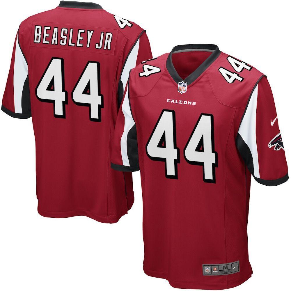 Mens nike vic beasley red atlanta falcons game jersey