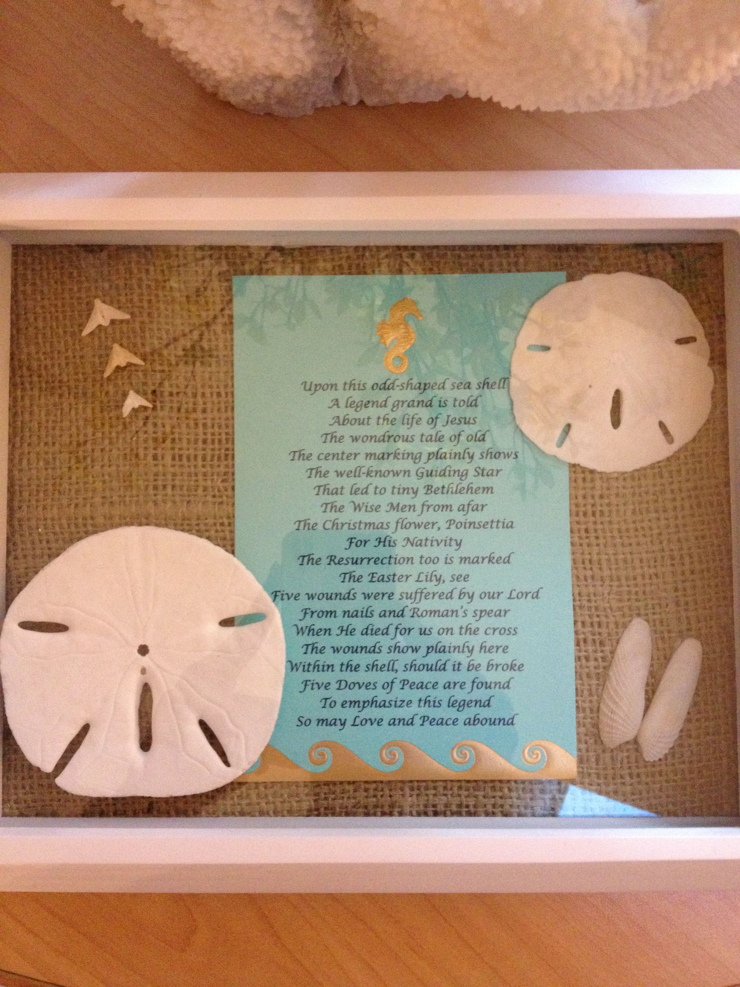 Mother S Day Gift I Made For My Mom Included Angel Wing Shell And Doves From Inside A Sand Dollar W The Sand Dollar Decor Sand Dollar Craft Seashell Projects