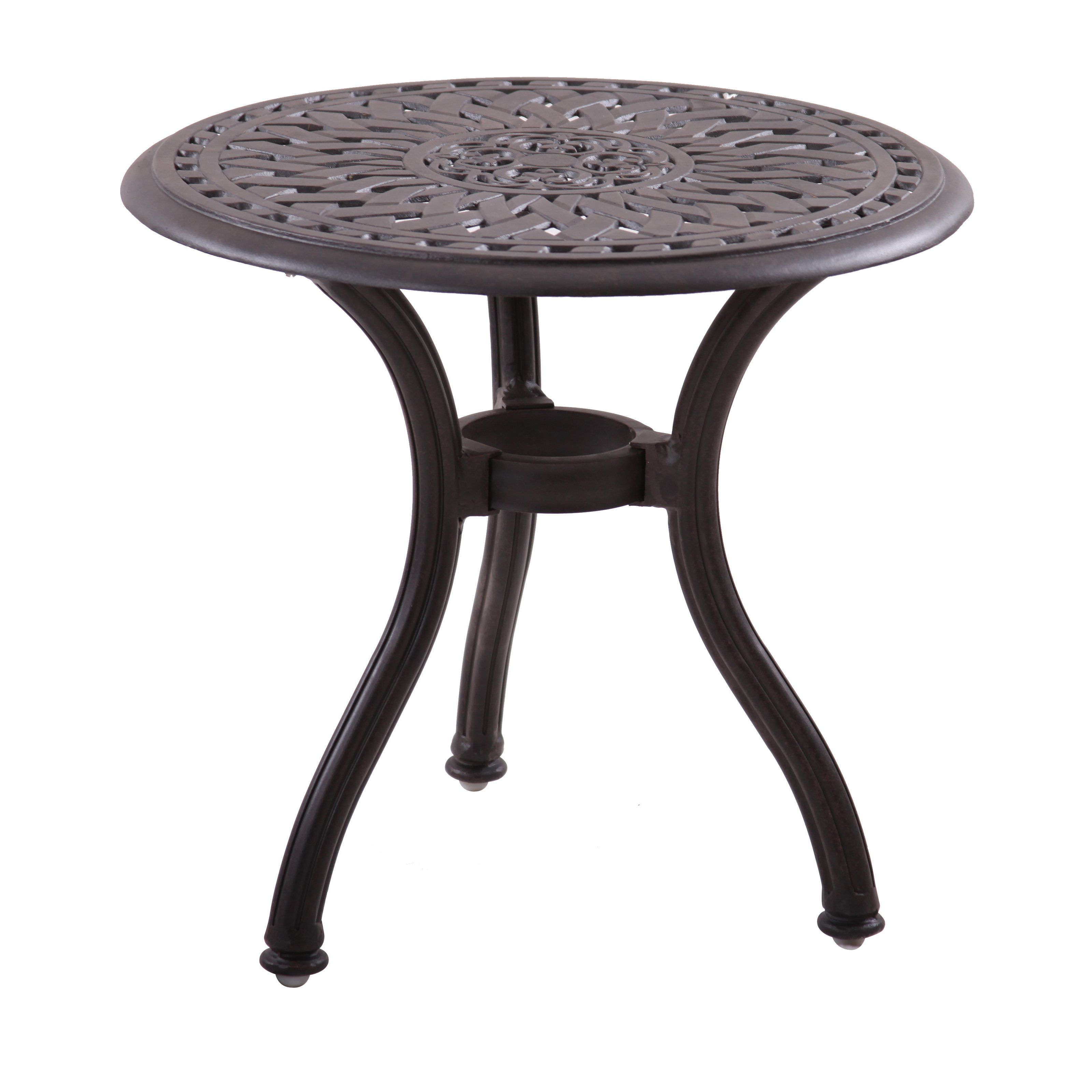 Darlee Series 60 Cast Aluminum Round End Table From Hayneedle