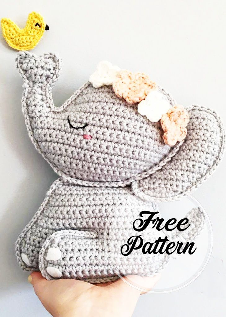 Cute and Free Elephant Amigurumi Crochet Pattern Design - Page 4 of 4 - Women Crochet Blog