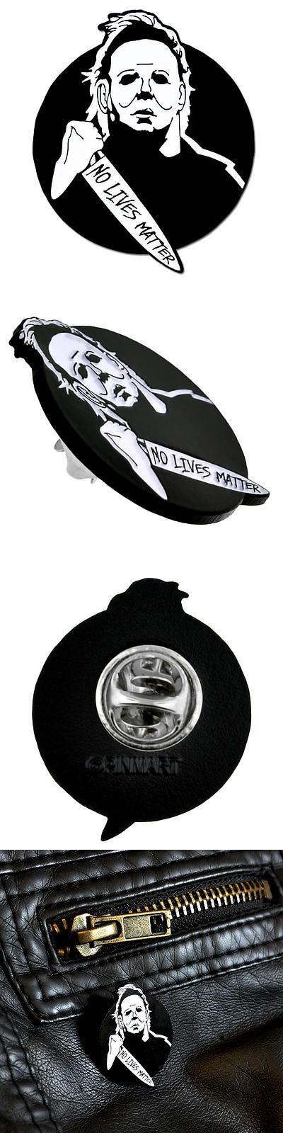 f37621e0 PinMart Michael Myers No Lives Matter Halloween Enamel Lapel Pin ...
