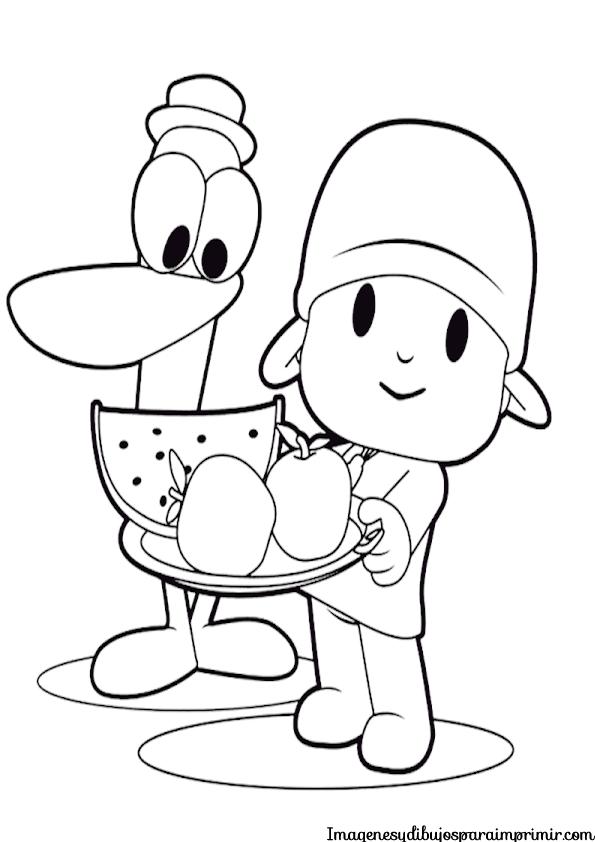 Imprimir Y Colorear Pocoyo Imagenes Y Dibujos Para Imprimir Kids Coloring Books Pocoyo Coloring Pages For Kids