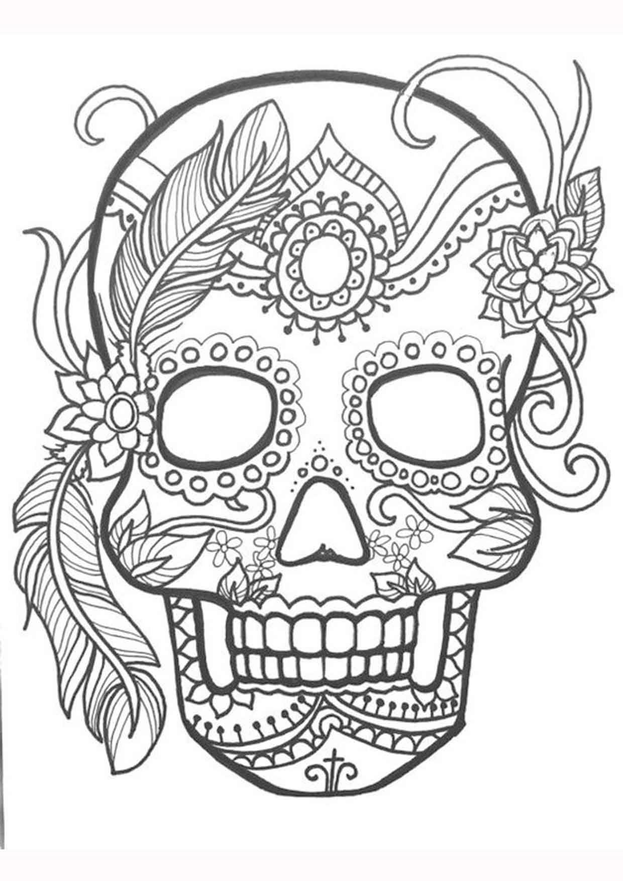 20 Padrisimos Mandalas De Dia De Muertos Para Imprimir Y Colorear Mujer De 10 Guia Real Para La Mujer Actual Enterate Ya Mandalas De Calaveras Calaveras Mexicanas Para Colorear Paginas