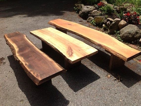 Terrific Reclaimed Wooden Benches Outdoor Garden Benches Live Edge Evergreenethics Interior Chair Design Evergreenethicsorg