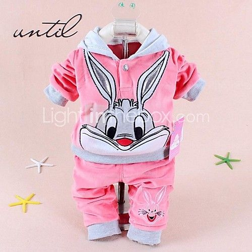 ef64266cb Babies' Character Pink/Blue/Yellow Hood Set,Cute Hooded Long Sleeve - USD  $14.99. Baby Girls Clothing Set Cartoon Rabbit & Hello Kitty ...