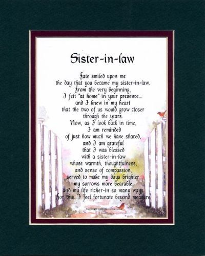 I Love My Sister In Law Quotes Sister In Law Touching 810 Poem