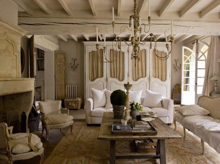 D coration campagne chic meubles et accessoires 37 id es for Accessoire deco salon