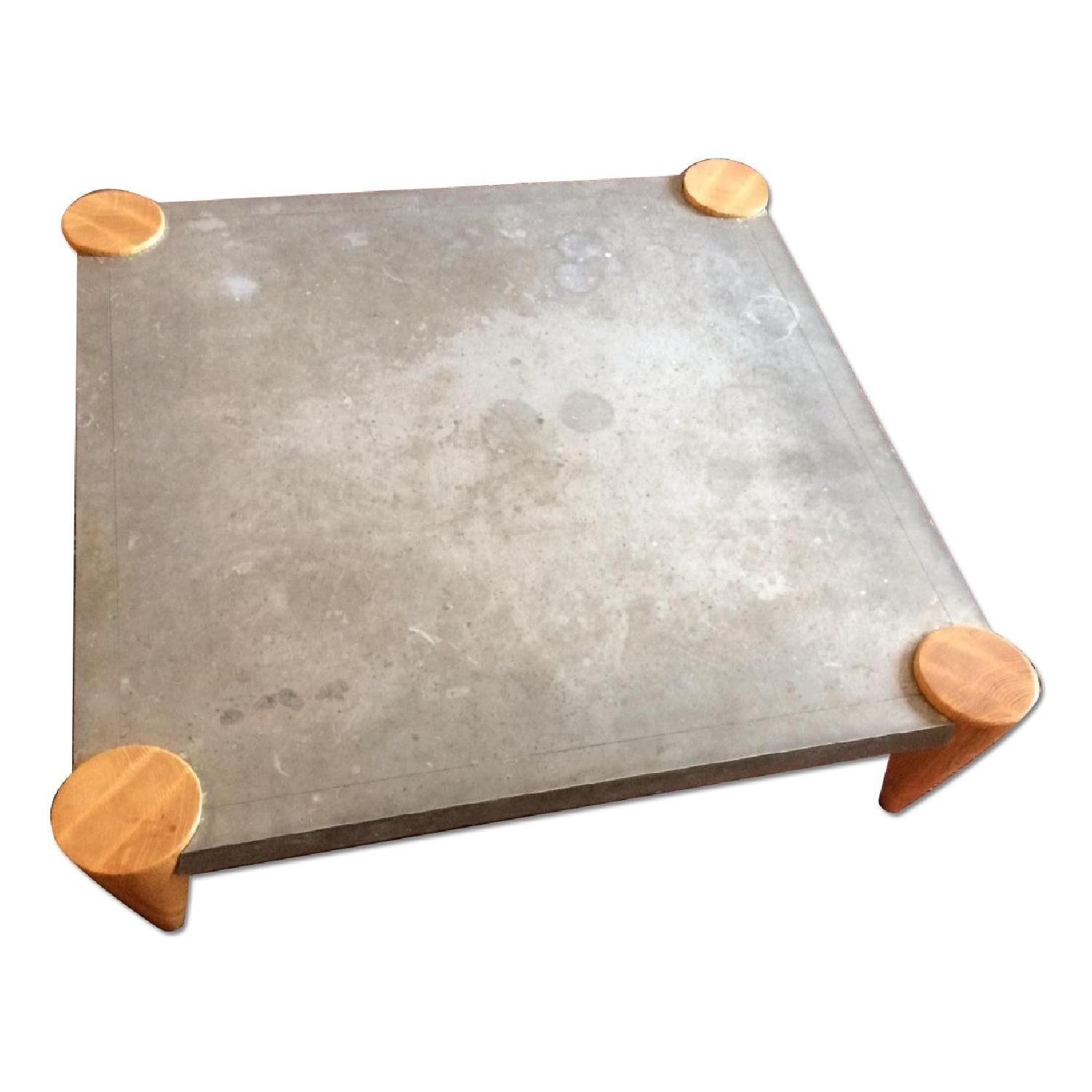 The Conran Shop Square Zinc Top Coffee Table Apartment