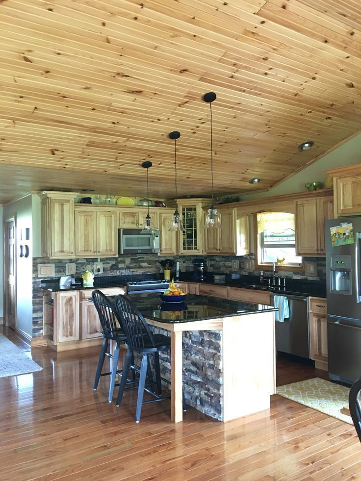 78 Inspiring Hickory Kitchen Cabinets Ideas for Na