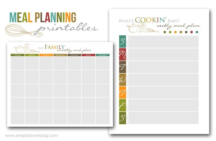 Weekly Menu  Print And Place In Frame And Use As A Dry Erase