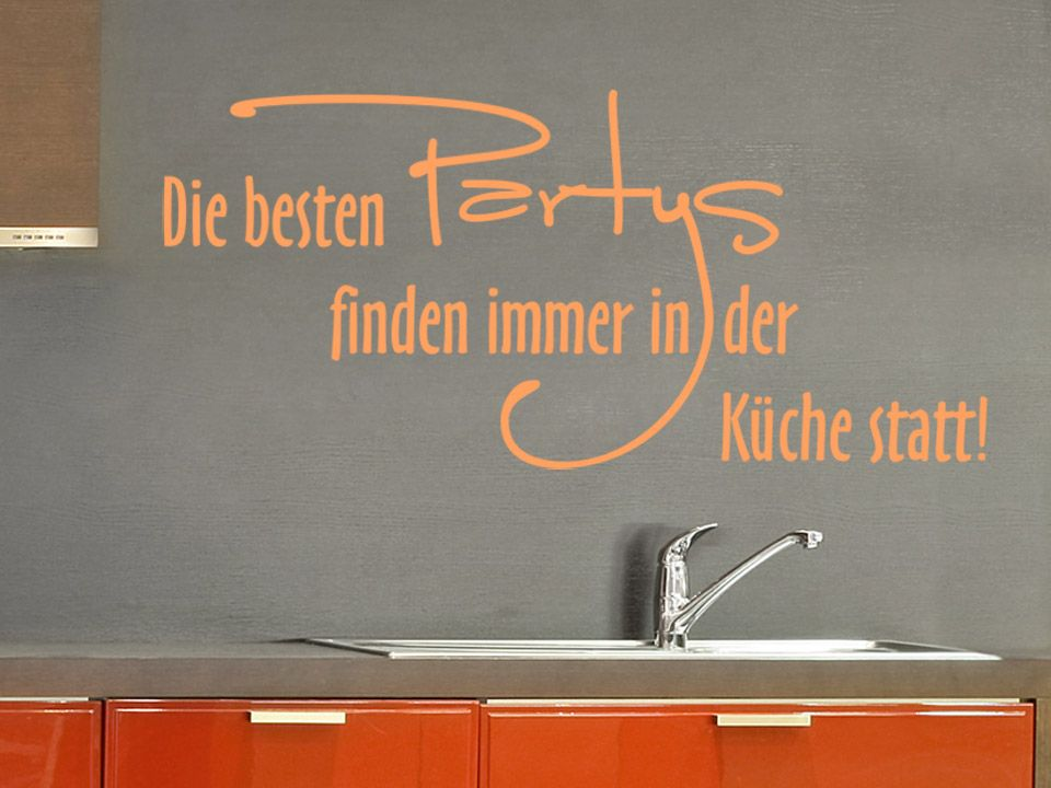 166_1-Wandtattoo-Kueche-beste-Party-orange.jpg (960×720 ...