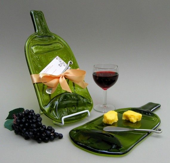 Large Wine Melted Bottle Cheese Plate / by MitchellGlassworks & Large Wine Melted Bottle Cheese Plate / Cutting Board / Serving Tray ...