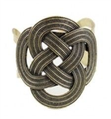 Vintage Style Dull Gold Brass Tone Slide On Cuff Bangle Bracelet