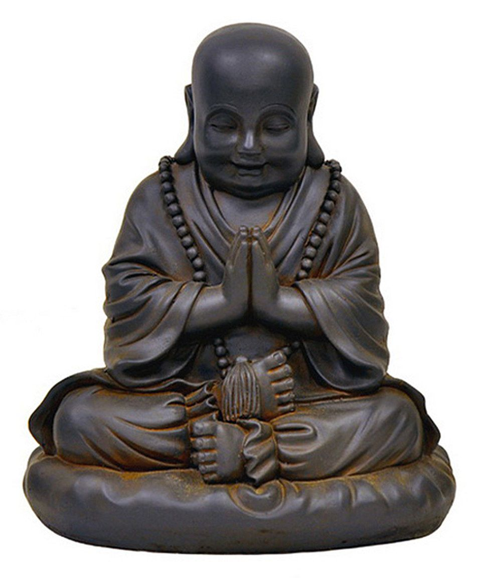 Look what I found on #zulily! Black Rust Praying Buddha Statue by Oakvalleydecor.com #zulilyfinds