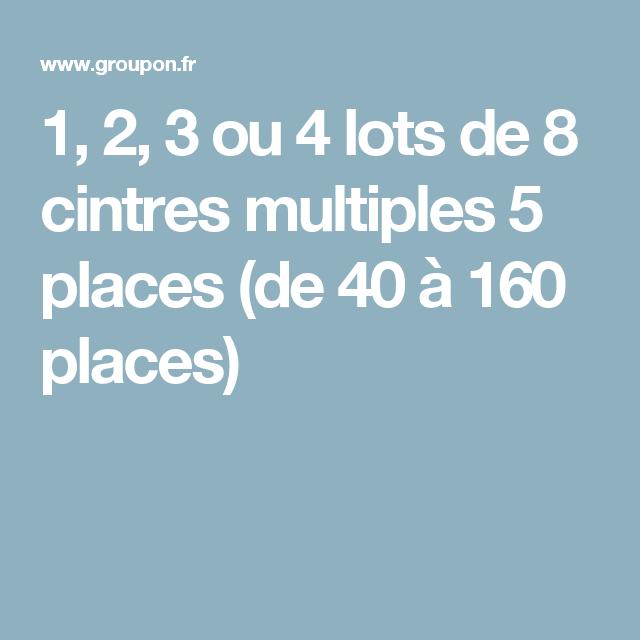 1, 2, 3 ou 4 lots de 8 cintres multiples 5 places (de 40 à 160 ... 1806c9623c5b