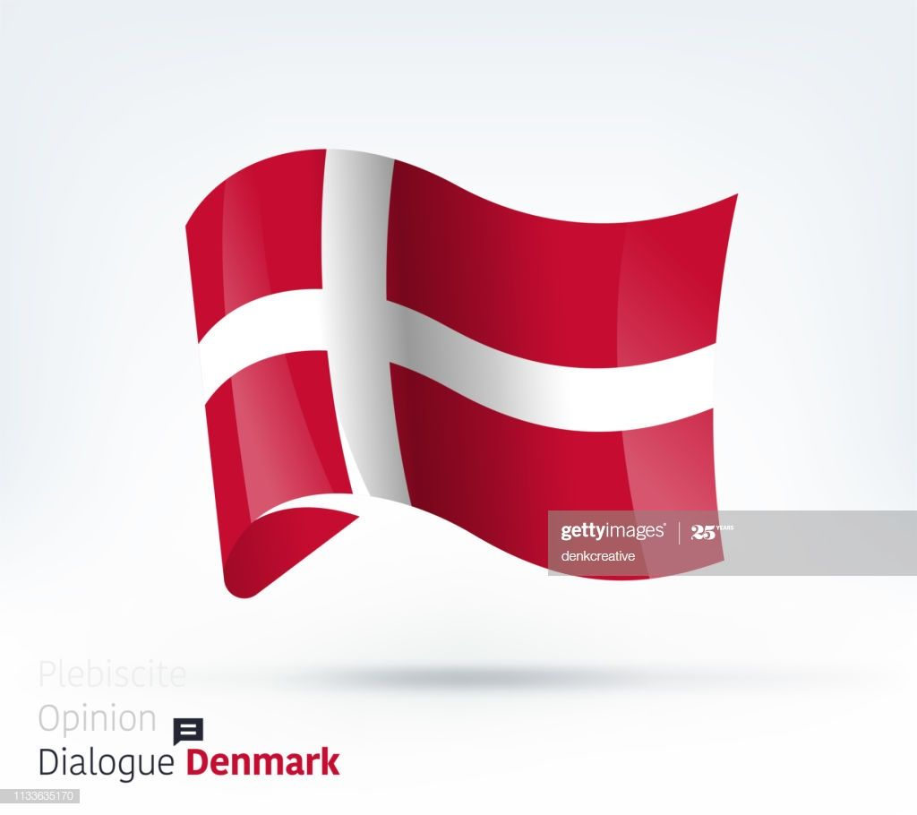 Vector Waving Flag Illustration Of Denmark For International Dialogue In 2020 Denmark Flag Conflict Management Denmark