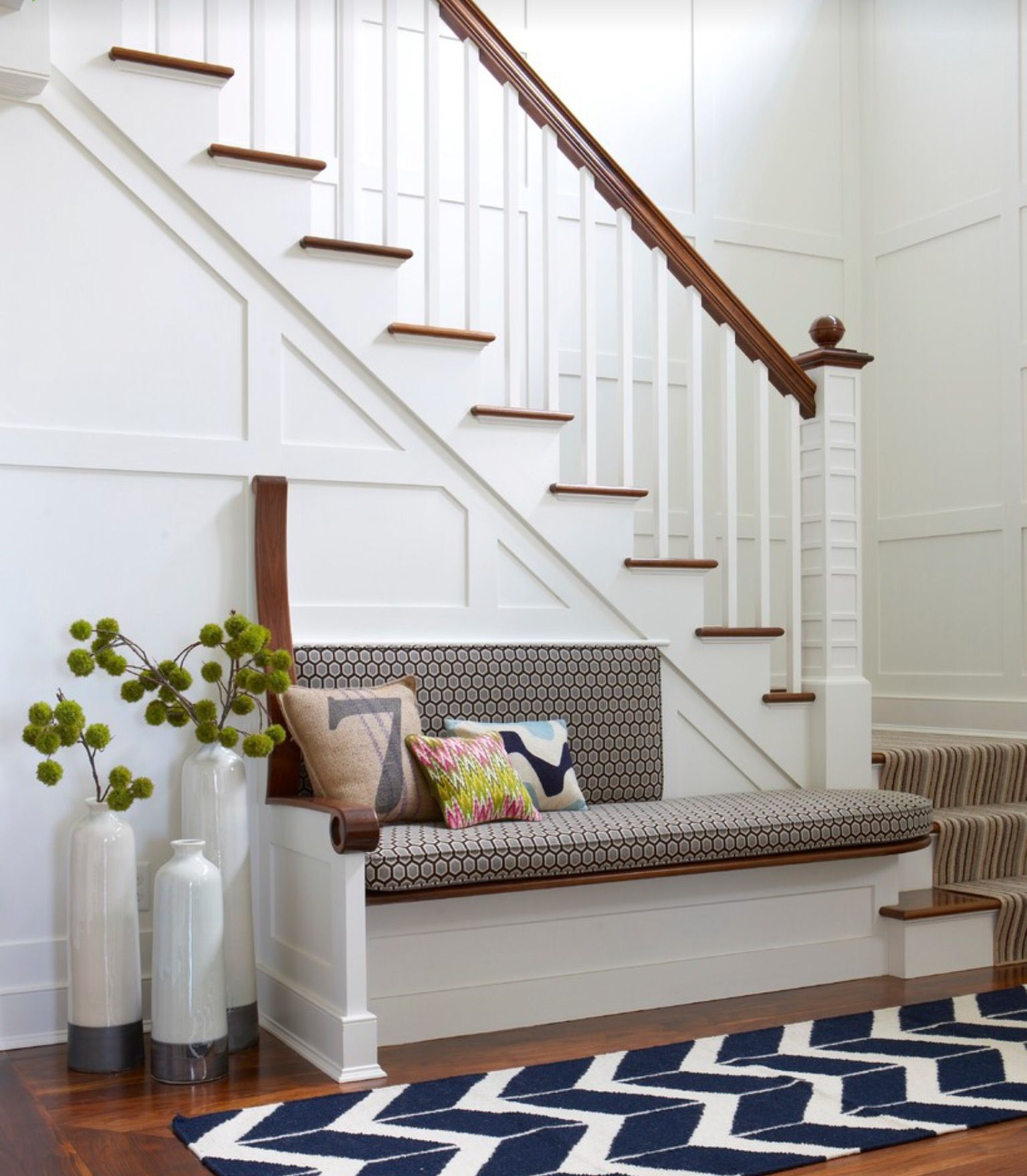 80 Modern Farmhouse Staircase Decor Ideas 64: Idea By Melinda Laudy On New White House